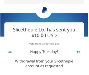 Slicethepie Payment Proof