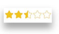 2.5 star rating
