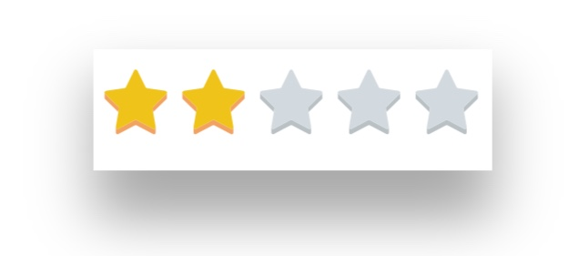 2 Star Rating