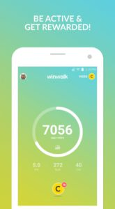 Get Rewarded for being active with the WinWalk App