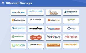 Offerwall surveys at GPTBee