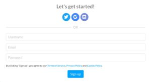 Signing Up With Chequity