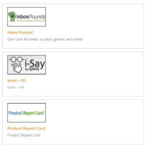 Choice of survey sites at Survey Club