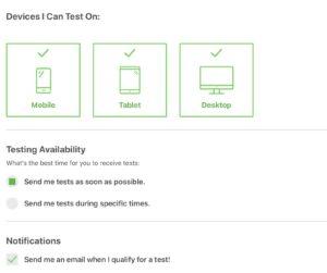 Testing Preferences At Enroll