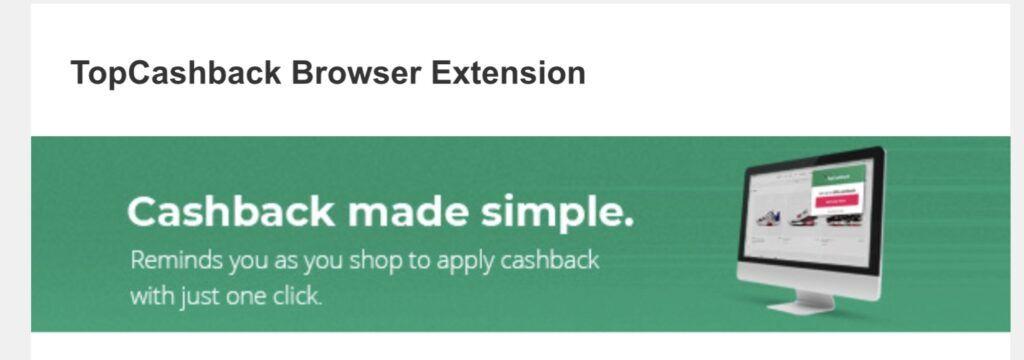 TopCashBack Browser Extension