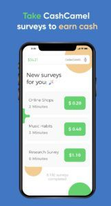 Take Surveys To Earn Cash With The CashCamel App